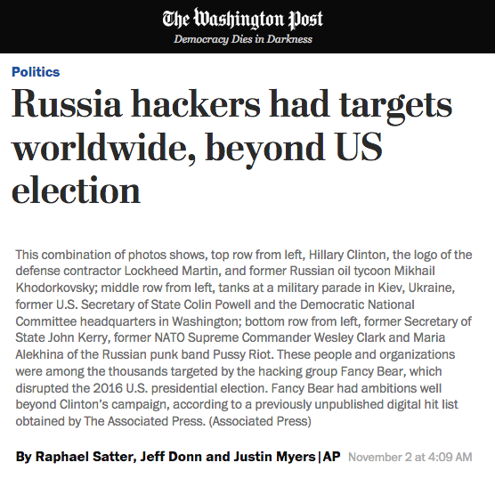 Many other news organizations carried our investigation, including The Washington Post.